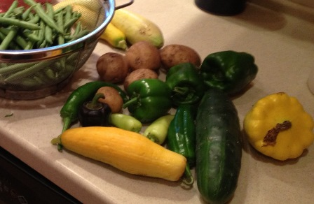 green chile from community garden