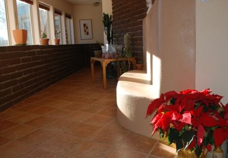 passive solar home in December
