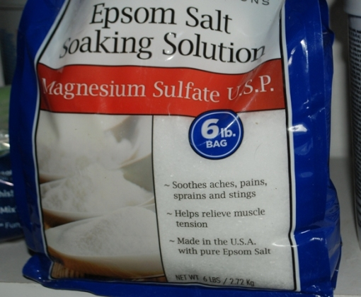 bag of Epsom salt